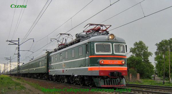 Карта железных дорог Сибири