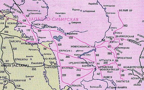 Кемерово. Схема пригородных